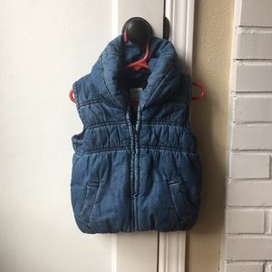 Toddler denim vest.